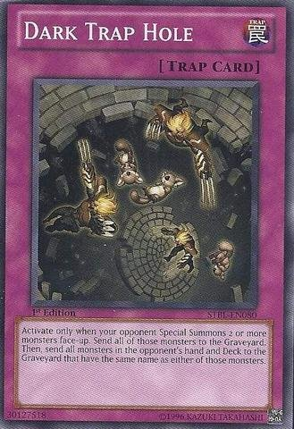 1st Edition Trap (Yu-Gi-Oh! - Dark Trap Hole (STBL-EN080) - Starstrike Blast - 1st Edition - Common)
