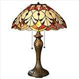 Design Toscano TF85002 Art Nouveau Flowing Buds Tiffany-Style Stained Glass Table Lamp