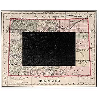 Amazon.com - Colorado, Colorado-4x6 Brushed Metal Picture Frame-Black -