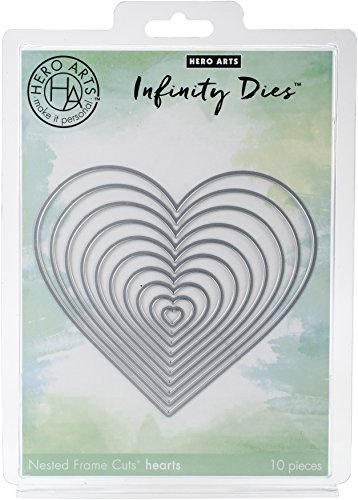 Hero Arts DI334 Nesting Hearts Infinity Dies (H) Die Cuts by Hero Arts