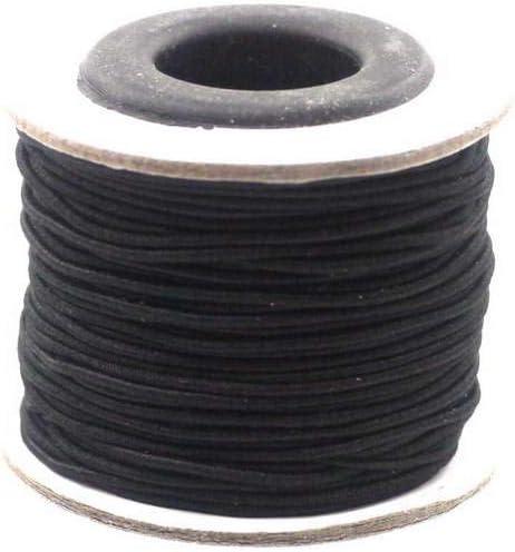 cobalt blau F/ädelgummi elastische Schnur 2,5mm dick Faden Band f/ür Schmuck ca 15m Rolle