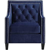 Picket House Furnishings Teagan Accent Arm Chair in Navy