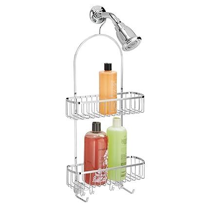 mDesign Estantería ducha sin taladro para colgar – Organizador de baño con cestas  de ducha – d1fc91aae02b