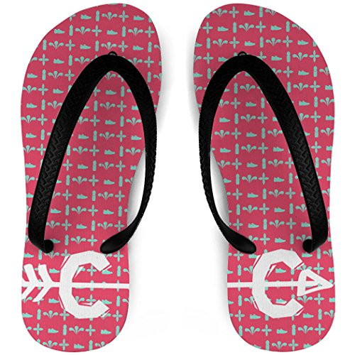 Track and Field Flip Flops Cross Country Love Pink jzselF301