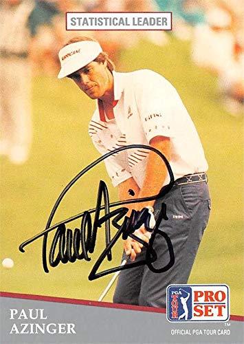 (Paul Azinger autographed trading card (Golf, PGA Tour, Eastern Florda State, SC) 1991 Pro Set Stats Leader #272)