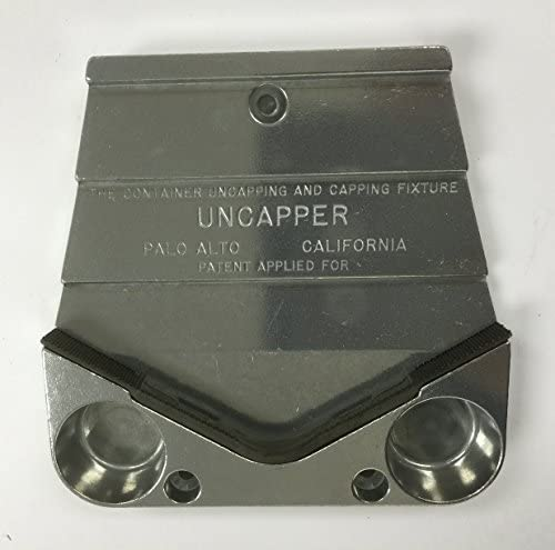 UNCAPPER Jar Opener: Screw and Lift-off Lid Remover, Bottle Opener and Re-sealer. Mounts Under Cupboard-Works with One Hand