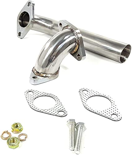 Universal 35MM 38MM Turbo Wastegate Exhaust Dump Tube Pipe Elbow Pipe Kit WG