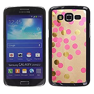 For Samsung Galaxy Grand 2 II / SM-G7102 / SM-G7105, S-type® Dot Paper Art Shiny Pink Dots - Arte & diseño plástico duro Fundas Cover Cubre Hard Case Cover