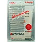 Kirby Generation 3 Upright Vacuum Cleaner Bags, Kirby Item Number 197389, 9 bags in pack