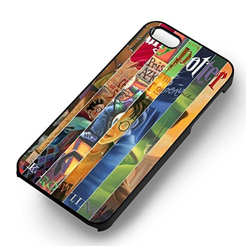 Unique Harry Potter Couverture Books pour Coque Iphone 5 or Coque Iphone 5S or Coque Iphone 5SE Case (Noir Boîtier en plastique dur) Q6G5RE