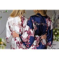 Bridesmaid Gifts, Bridesmaid Robes, Wedding Robes, Bridal Party Gift, Bridesmaid Robe, Satin Robe, Bridal Party Robes, Personalized Robe
