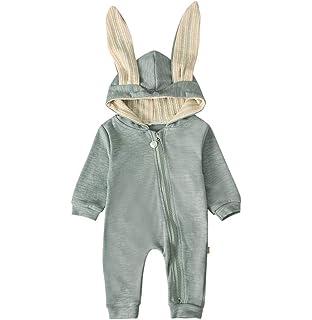 Dehots Baby Kleidung Jungen M/ädchen Strampler Overall Jumpsuit Kleinkind Bodysuits Outfits Einteiler Jacke 0-18 Monate Neugeborenen Schlafstrampler S/äugling