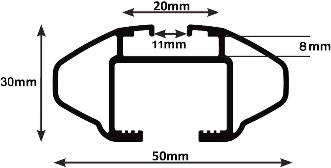 VDP Alu Dachtr/äger RB003 kompatibel mit Kia Sportage 5T/ürer 2010-2016