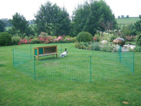 Mobiler Flexibler Garten Elektrozaun 50m X 112cm 14 Pfähle