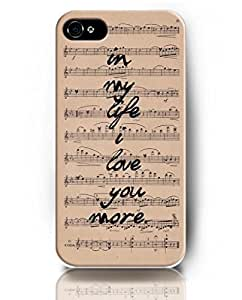 UKASE Cases with Inspiring Picture Life Quotes for iPhone 5/5S - Music Nots - In My Life I Love You More