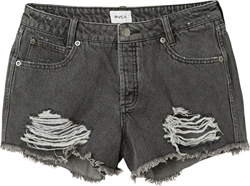 - RVCA Junior's The BF Denim Jean Short, Vintage Black 24