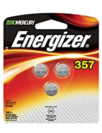 Energizer Silver Oxide Watch/Electronic Battery 357, 3-Count (Pack of 3)