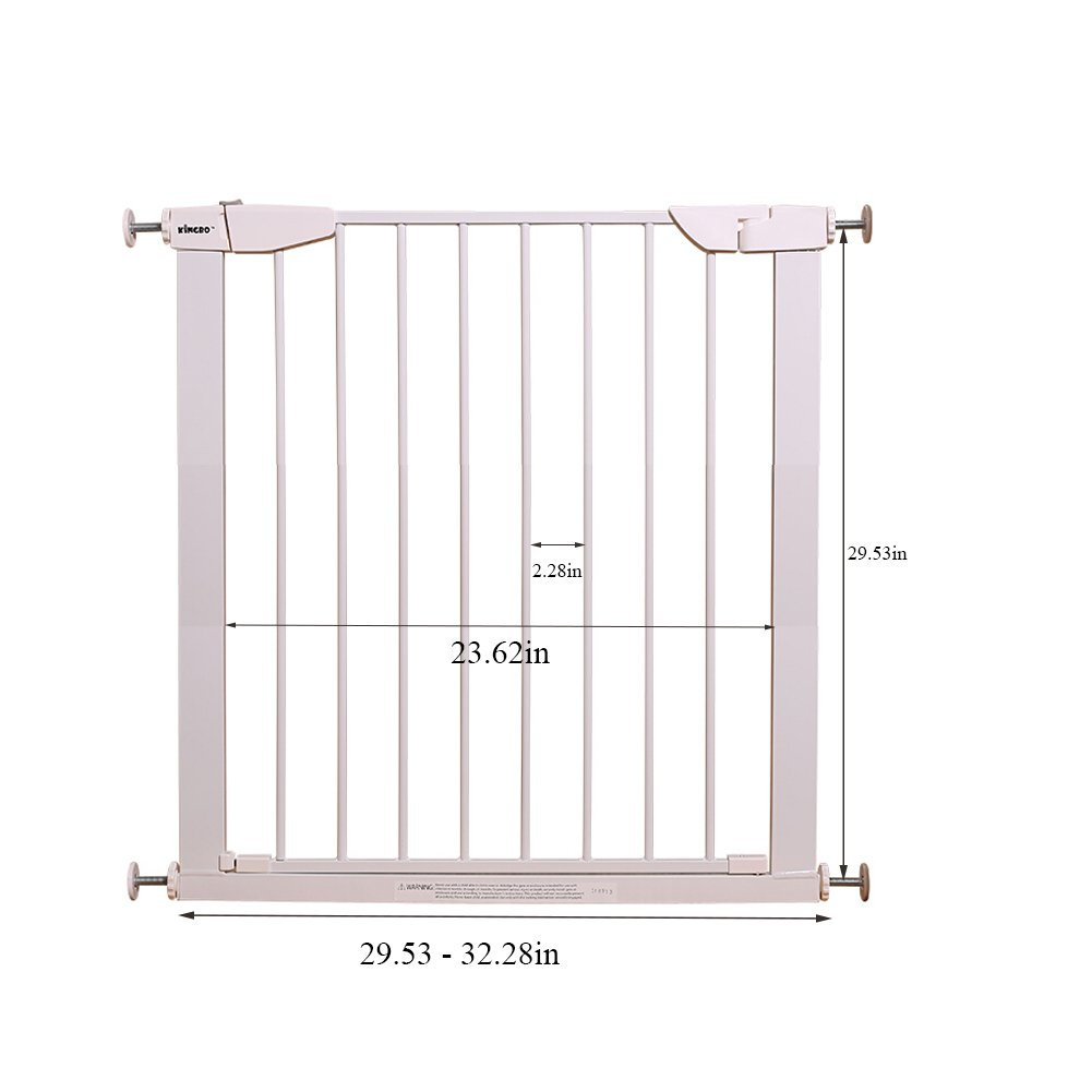 Fairy Baby Easy Step Walk Thru Pet and Baby Gate Expandable 29.5'' High,Fit Spaces 40.55''-43.31'' by Fairy Baby (Image #5)