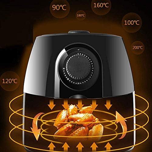Wghz Friteuse à air Domestique 4L 11 préréglages de Cuisson Affichage numérique à Un Bouton Rappel de préchauffage Fonction antiadhésive pour Une Cuisson Faible en Gras 1200 W.