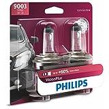 Philips 9003 Lámpara delantera Premium Vision Plus, paquete de 2