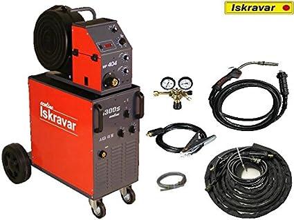 Iskra Mig Mag 300S wf404 Ecoline Protección Gas Soldador Gas schw Hielo sgerät: Amazon.es: Industria, empresas y ciencia