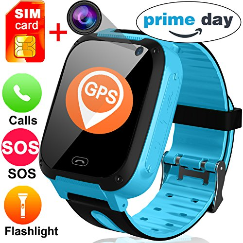Sim Touch Cell Phone - Kids Smart Watches with Free SIM Card- 1.44