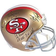 Joe Montana John Taylor Dwight Clark 49ers Replica Full Helmet Catch COA - Steiner Sports Certified - Autographed NFL Helmets