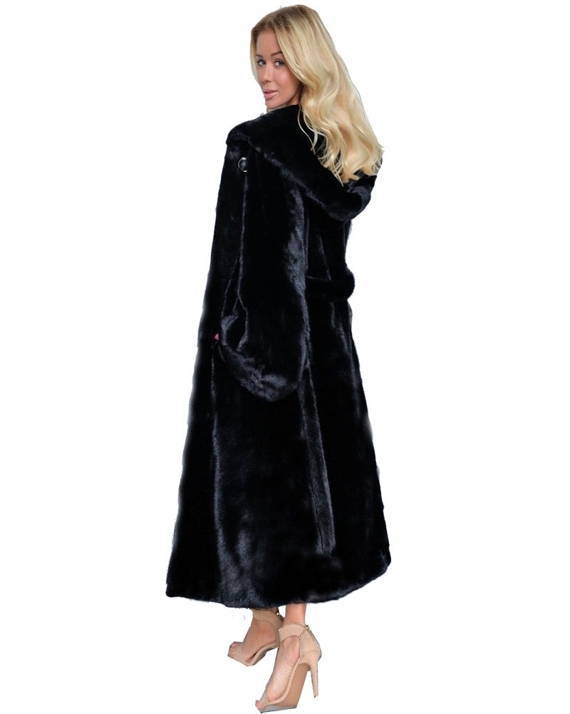 Aofur Women's Warm Winter Faux Fur Hooded Parka Long Coat Jacket Top Outwear New Fashion Thick Parka Overcoat by Aofur (Image #3)