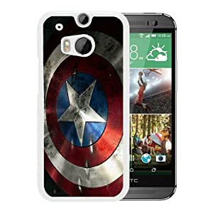 Attractive Case American captain shield 3-1 HTC ONE M8 Case in White