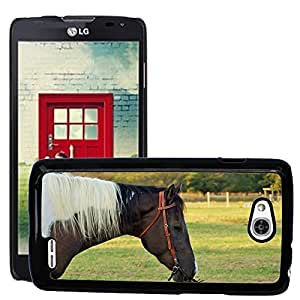 Etui Housse Coque de Protection Cover Rigide pour // M00133271 Horse Riding Animal de Texas // LG Optimus L90 D415