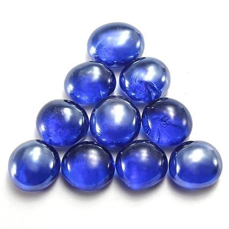 Zeagro - Juego de 10 Bolas de canicas de Cristal Planas para decoración de peceras (