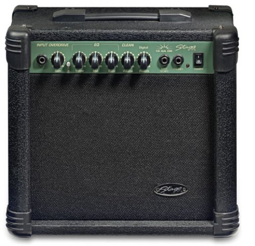 Stagg 15-Watt Guitar Amplifier with Digital Reverb - Black by Stagg