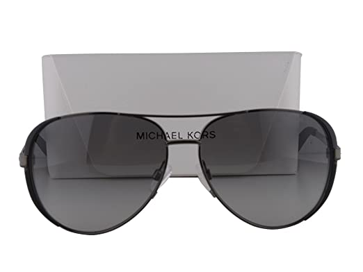 13406f90bdb Image Unavailable. Image not available for. Color  Michael Kors MK5004  Chelsea Gunmetal-Black w Gray ...