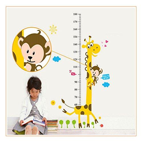 Hatop Hot Sell Giraffe Children Room Decor Wall Stikers Height Growth Chart Kids DIY