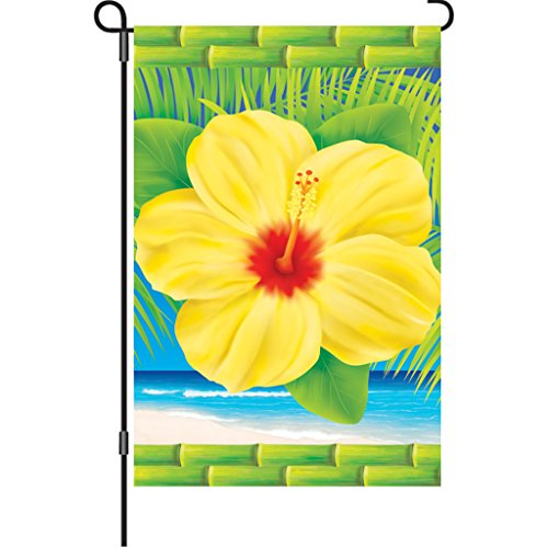 Embroidery Hibiscus (Premier 51326 Garden Brilliance Flag, Tropical Hibiscus, 12 by 18-Inch)