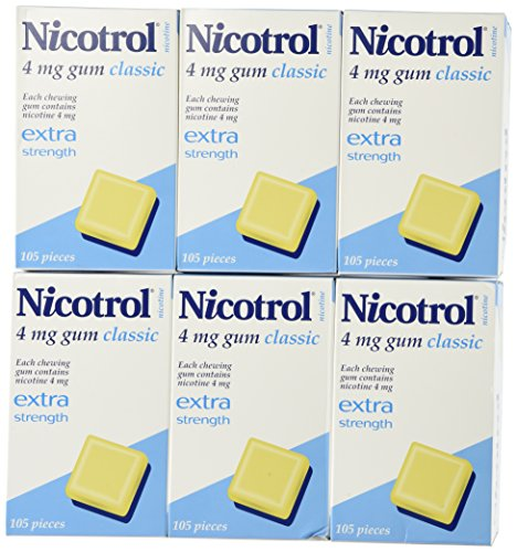 6 Boxes Nicotrol Nicotine Gum 4mg Original Classic 630 Pieces by Nicotrol (Image #1)