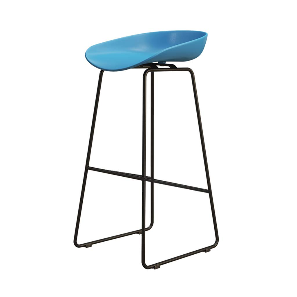 bluee 65cm DingHome-ca Barstools - Wrought Iron Simple Fashion Breakfast High Chair Creative Bar Stool gold Kitchen Bar Counter