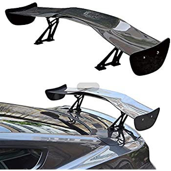 cciyu Black ABS Rear Spoiler Wing Universal Replacement fit for Chrysler Chevy Ford Lincoln Mazda Mercury Toyota Volkswagen Sereis Stylish Trunk Spoiler Wing