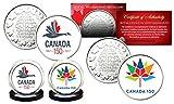 CANADA 150 CELEBRATION RCM Royal Canadian Mint Colorized Medallions 2-Coin Set