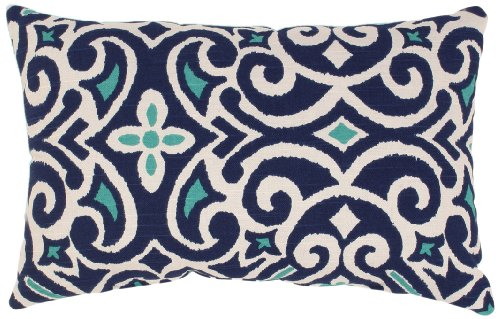 amazoncom pillow perfect decorative damask square toss pillow bluewhite home kitchen - Blue Decorative Pillows
