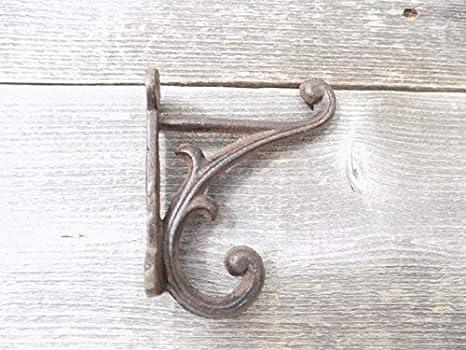 8 marrón rústico perchero ganchos de hierro fundido estilo ...