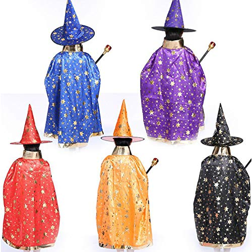 Wizard Capes with Hat Birthday Party Halloween Costumes Birthday party1
