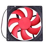 Computer Cooler Fan, WinnerEco 12cm 120mm DC12V 1800R 120x120x25mm 2Pin Cooling Fan for PC
