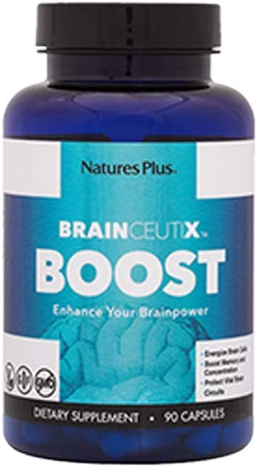 BrainCeutix by NaturesPlus Boost Ginkgo Plus Brain Supplement for Memory and Focus, 90 Capsules