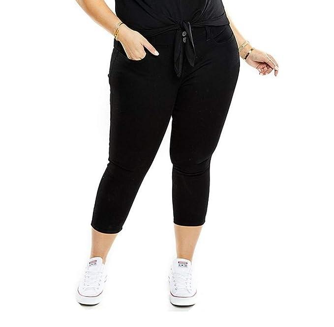 Amazon.com: 1826 de la mujer Plus tamaño elástico cintura ...