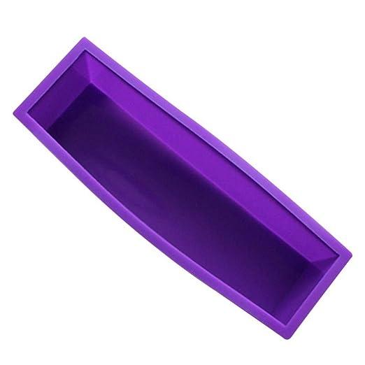 TREA2SURE Molde rectangular de silicona hecho a mano para jabón ...
