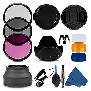 ARBUYSHOP 100% profesional 55mm UV CPL fld la capilla y el casquillo kit de limpieza de lente de la cámara Filtro para Sony Alpha A390 A33 A55 A35 A65 A77 A57 A37 A99