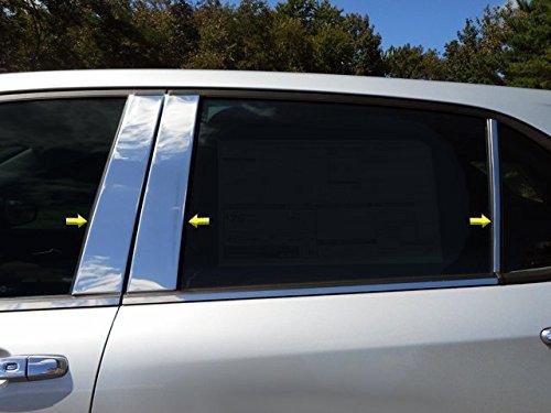QAA FITS Equinox 2018-2019 Chevrolet PP58161 6 Pc: Stainless Steel Pillar Post Trim Kit, 4-Door, SUV