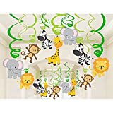 zoo animal pictures - 30 Ct Woodland Animals Hanging Swirl Decorations for Forest Theme Birthday Wedding Party Festival Party