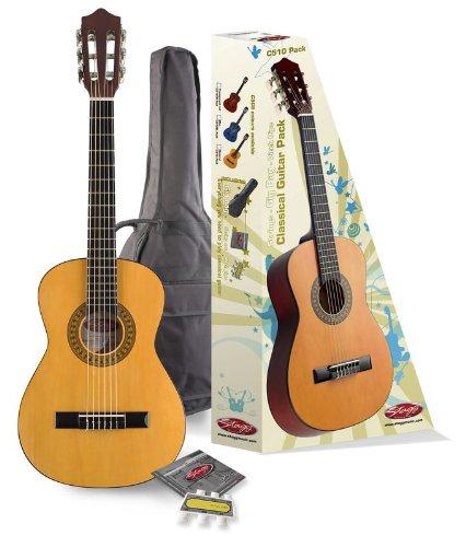 Niños Guitarra clásica (1/2 tamaño de 6 – 10 años, tapa de madera ...